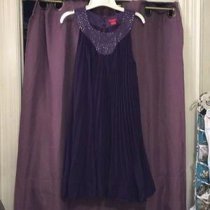 Purple Halter Flowy Dress